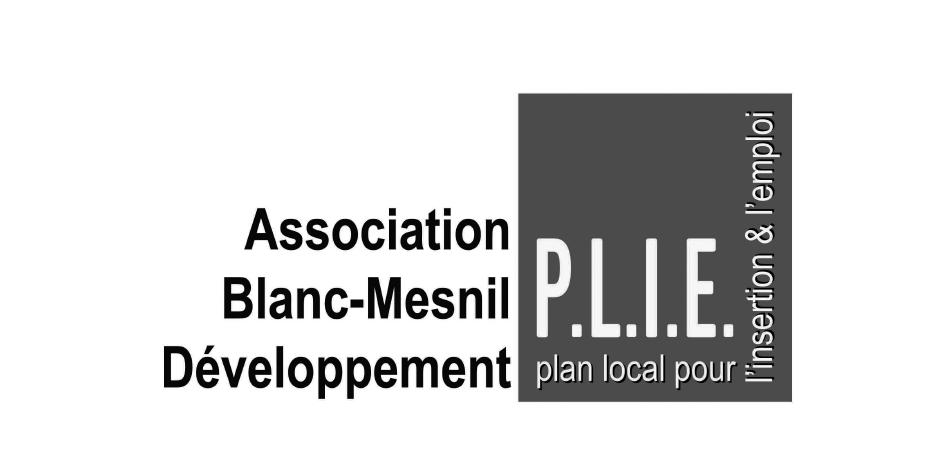 Logo P.L.I.E. Blanc Mesnil